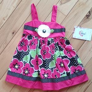 Nwt sweet heart rose easter summer dress 24m macys